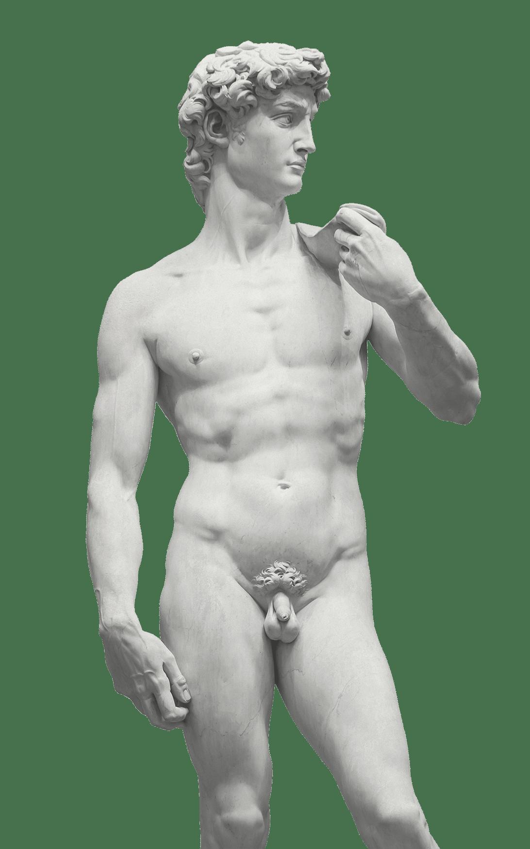 Foto einer männlichen Statue
