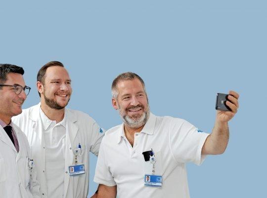 Antonio Nocito, Sebastian Soppe und Andreas Keerl feiern die Zertifizierung