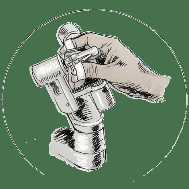 Illustration der Steuerung der Instrumente