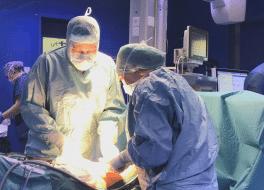 Bild aus dem Operationsraum
