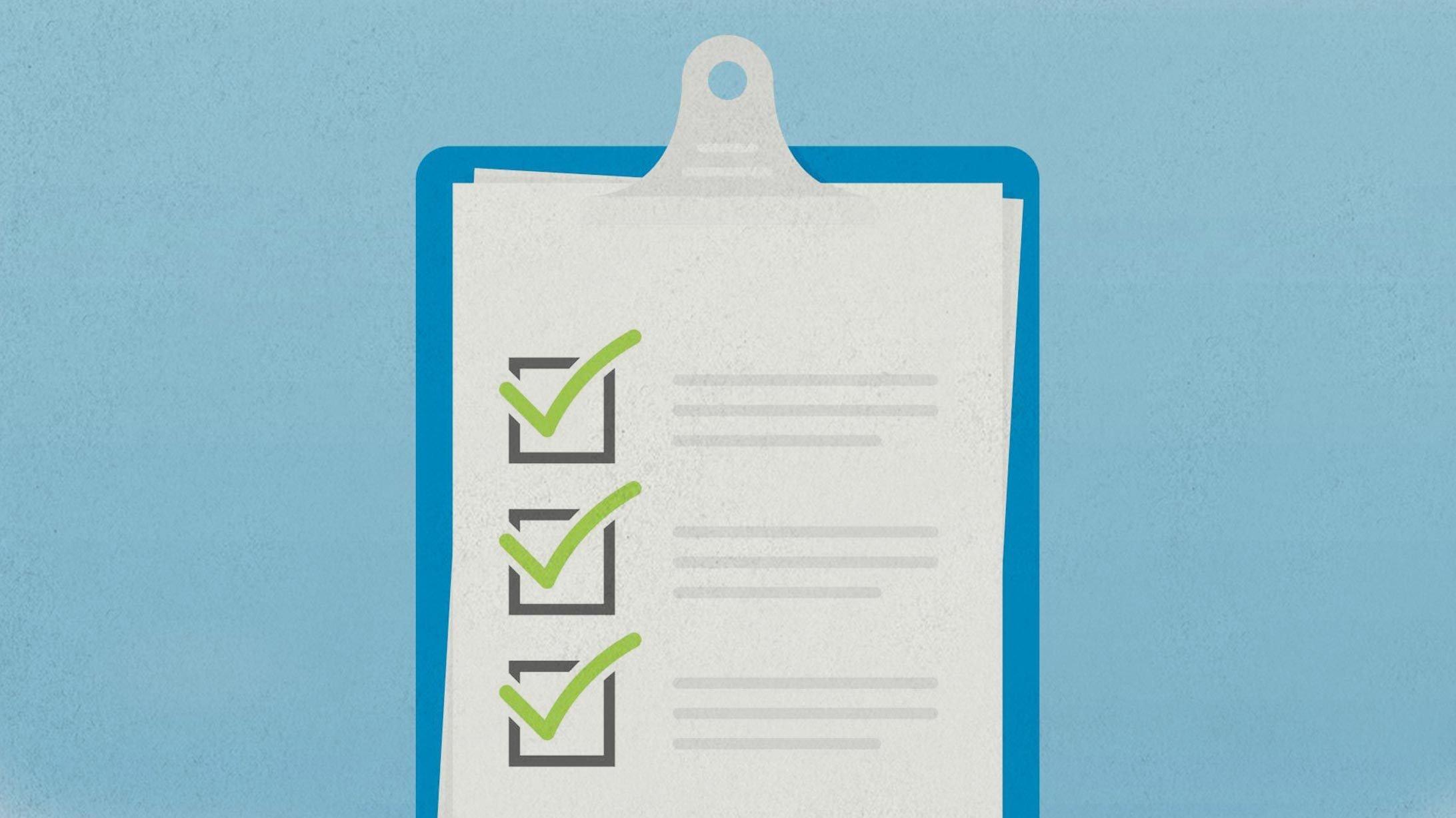 Illustration Checkliste Op-Vorbereitung