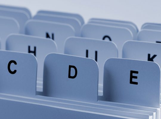 Symbolbild eines alphabetischen Ablagesystems