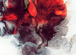 Ein rotes Batikmuster